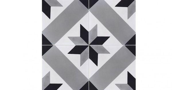carrelage carociment calvet gris saint maclou d co. Black Bedroom Furniture Sets. Home Design Ideas