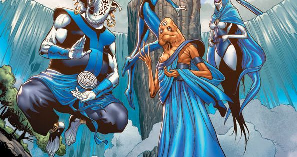 """Blue Lantern Corps, """"In fearful day, in raging night, With strong hearts"""