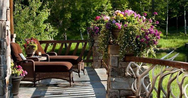Terrasse jardin jardins outdoors pinterest