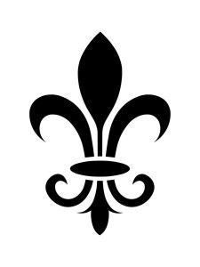 picture relating to Printable Stencil Designs known as French Fleur Accessory Consider inside of the Fleur De Lis