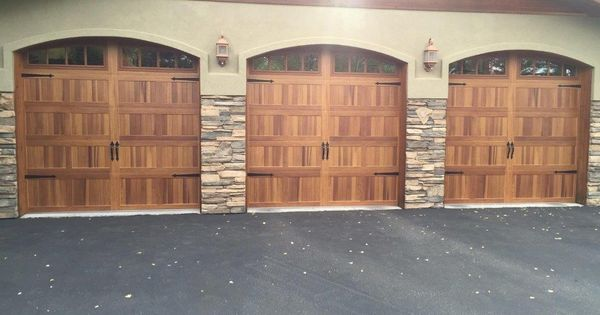 C H I Overhead Doors Model 5216 In Cedar With Optional