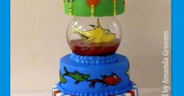 Dr. Seuss Cake Ideas at obSEUSSed. I just love the idea of