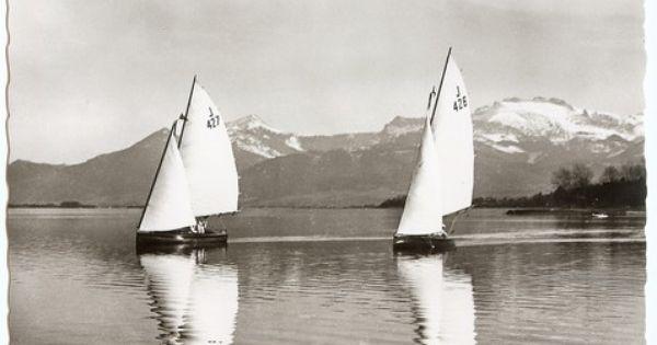 J 426 Irmgard Ex Bondine Der Hanseatischen Yachtschule Chiemsee Und J 427 Krott Iii Auf Dem Chiemsee Die J 427 Wurde 1927 Als Alte Liebe Fur Den Potsdamer