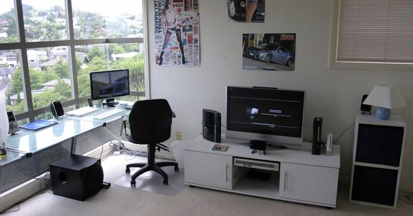 Comfortable Computer Room Ideas At Home Simple Stylish Computer Room General Ideas