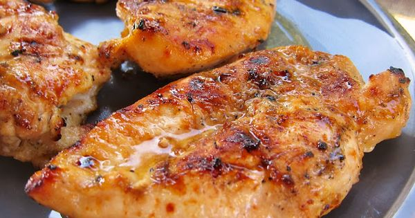Sweet and Tangy Grilled Chicken Recipe - chicken marinated in cider vinegar,