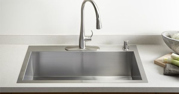Kohler Stainless Steel Kitchen Sinks Kitchen Sinks Kitchen Modern Kitchen Sinks Top Mount Kitchen Sink Single Bowl Kitchen Sink