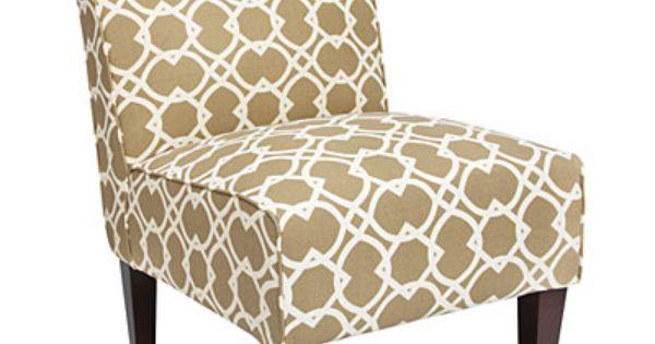 Armless Accent Chair Ortiz Sand Geometric Print At Big