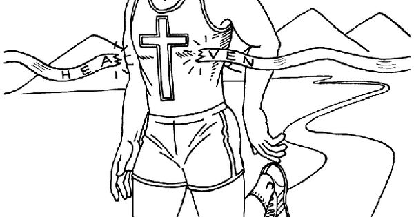 Running The Race Coloring Page. Once Again, Extend The