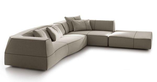 Sof composable tapizado de tela de esquina bend sof de for Sofa exterior esquina