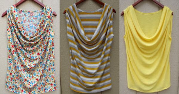 Morning by Morning Productions: draped tank tutorial