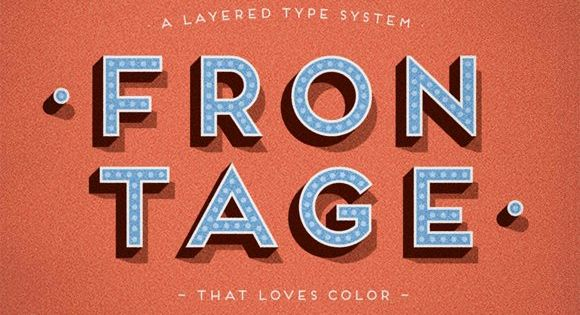 Frontage – charming layered type system with endless design possibilities
