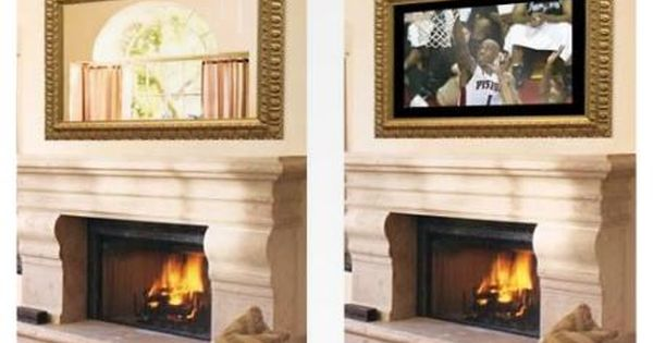 Mirror Mirror On The Wall Tv Above Fireplace Home Home Living Room