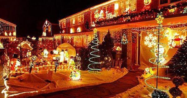 Fachadas Decoradas De Navidad Fachadas Navidenas Luces De Navidad Luces Festivas Navidad