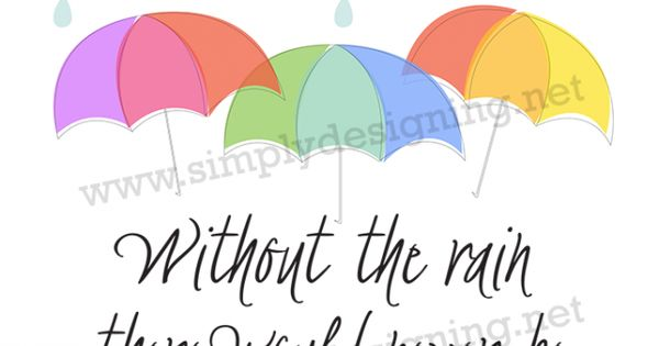 Without the Rain there Would Never be Rainbows | Rainbows ...