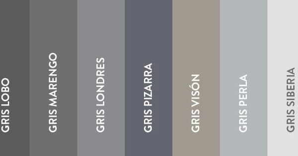 Gama de grises decorando peque os detalles pinterest - Gama de colores grises ...