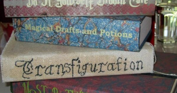 Harry Potter Book Cover Fabric ~ Harry potter textbooks should be easy to put these