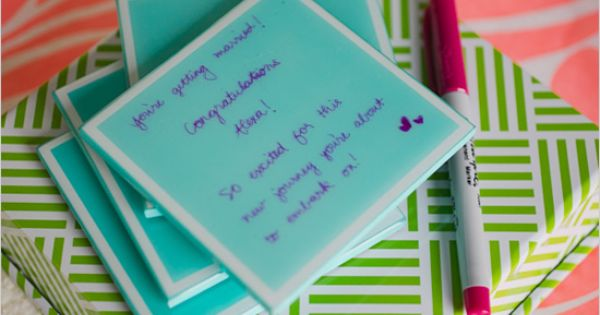 keepsake coasters bridal shower ideas