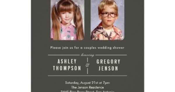 Old Photos Engagement Party Invitations. Cute Idea.