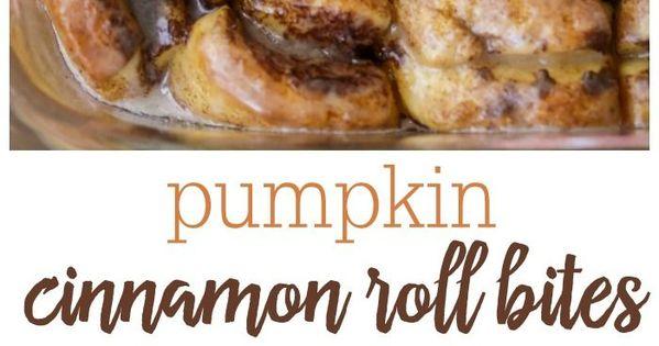 Pumpkin Cinnamon Roll Bites | Recipe