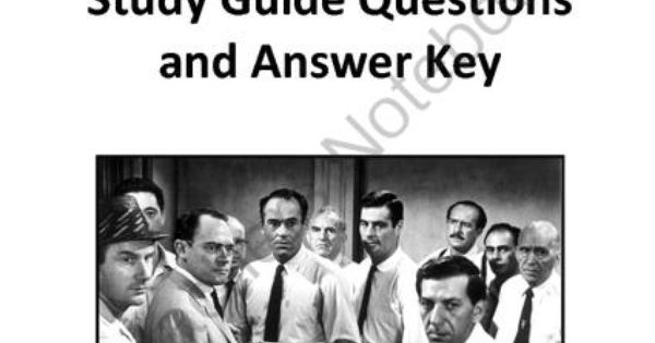 twelve angry men study guide