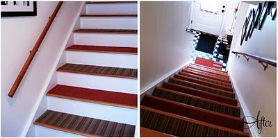 Doubly Happy Stair At This Staircase Remodel Stair Treads Carpet Stair Treads