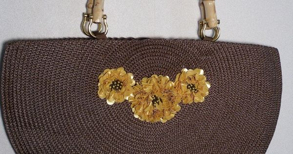 Made From Two Round Placemats Bags Purses Totes Clutches