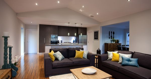 Beautiful Open Plan Living Room And Kitchen With Dining