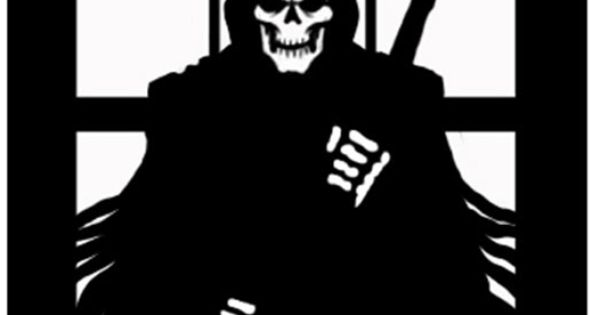 Scary Reaper Silhouette   Scary, Silhouettes and Cricut