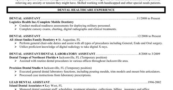 Dental Assistant Resume Example (Image)
