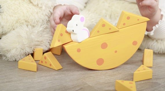 Wooden Stacker Mouse And Cheese Toddler Christmas Gift Etsy Toddler Christmas Gifts Toddler Christmas Motor Skill Toys