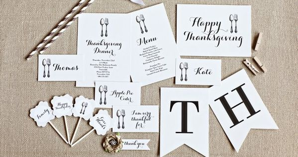 FREE Give Thanks Printable Thanksgiving Collection :: The TomKat Studio - Decorations