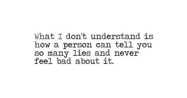 I will never understand some people and how they lie about who
