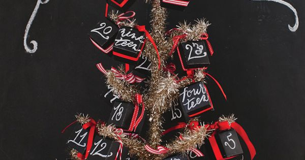 DIY Christmas Chalkboard Advent Calendar ~