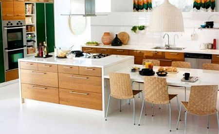 Trend Alert A Kitchen Island That S Also A Breakfast Nook Realty Times Kitchen Island Dining Table Kitchen Island And Table Combo Kitchen Island Table