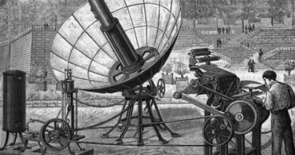 First Solar Powered Machine Augustin Bernard Mouchot 1825 1912 French Inventor Of The Earliest S History Of Solar Energy Solar System Facts Solar Energy
