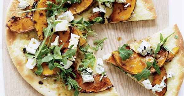 Glazed pumpkin and blue cheese pizzas | Recipe | Blue Cheese, Pizza ...