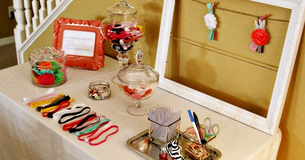 Headband Making Station - Baby Shower Activity, ♥ this idea! How special