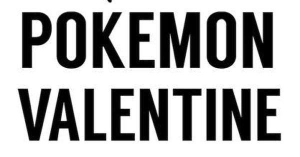Free Printable Pok 233 Mon Valentine Cards
