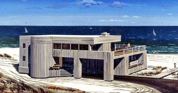 Contemporary Beach Houseplan 90620 Referred To As An