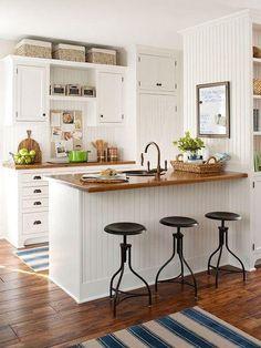 decoracion de cocinas para casas departamentos pequeños ...