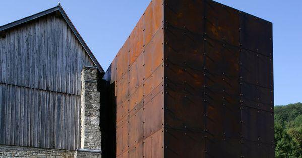 BEAUTIFULLY integrated. Love the corten steel. Museo de la Sal / Malcotti