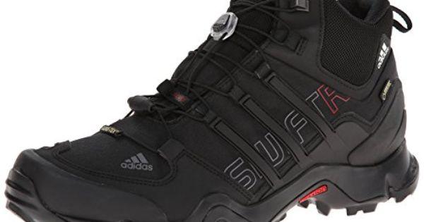 Adidas Outdoor Terrex Swift R Mid Gtx Hiking Boot Men S Black University Red 7 Adidas Performance Http Www Amaz Hiking Boots Boots Men Mens Boots Fashion