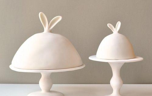 tina frey bunny cake stand
