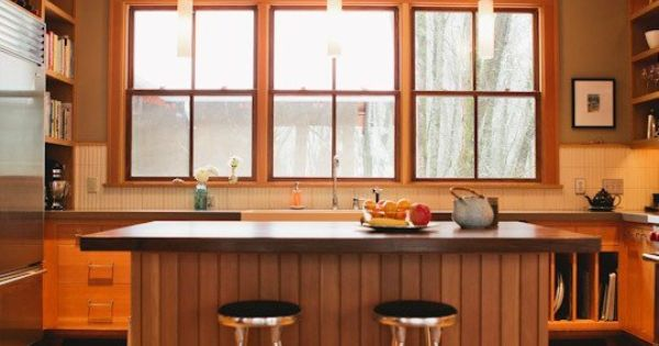 10 kitchens without upper cabinets kitchen gallery for Galley kitchen without upper cabinets