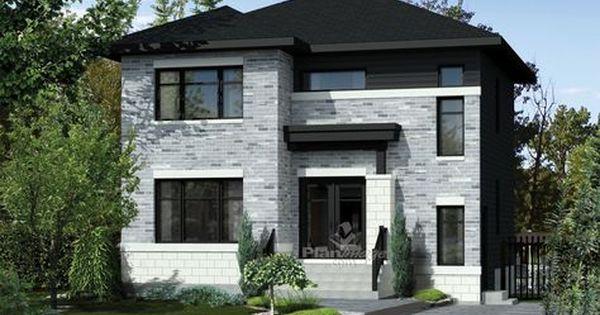 Voici un bel exemple du0027une maison à étage idéale pour une famille - exemple de facade de maison