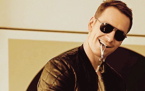 And Michael Fassbender toying with his keys in his mouth. | Can