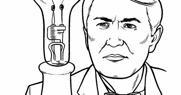 Thomas Edison Coloring Page US History coloring pages ...