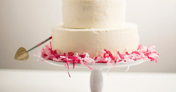 Cupid's arrow cake idea.