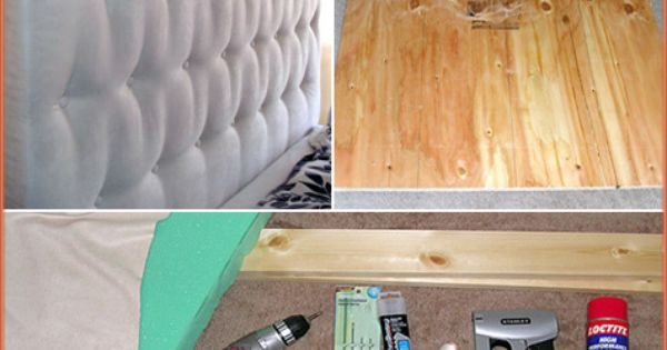 DIY Tufted headboard for the guest room.