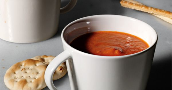Healthy tomato soup option. always worry about how fattening those creamy tomato